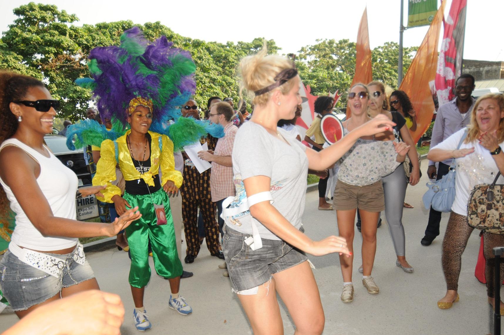 Brazilian Carnival Band Arrives Calabar