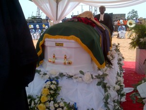 Late Justice Ndoma Egba lying in state yesterday