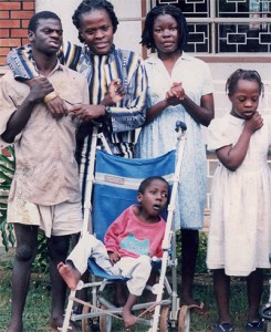 Robert Mayanja pictured with other members of the L'Arche community.