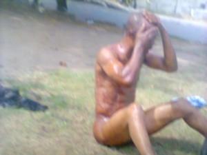 Inspector Henry Joseph - stripped naked by Major Mohammed