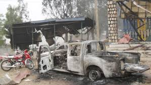 The newly constructed Adadama Police station that was razed and looted in the previous attack