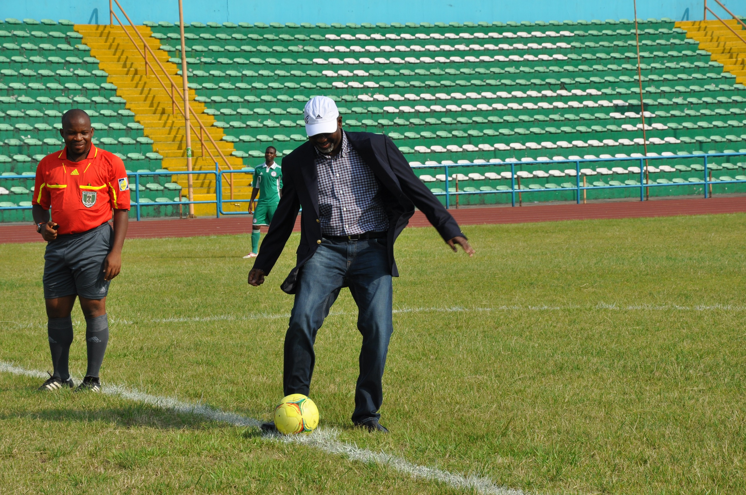 Imoke Kicks The Ball to Commence Eaglets Friendly With Botswana (Photos)