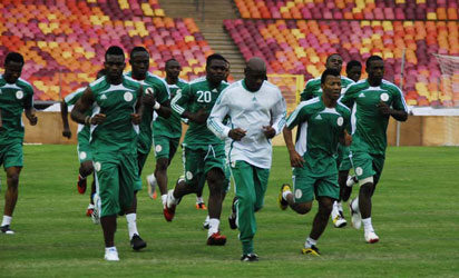 World Cup Qualifier: Super Eagles Train In Calabar