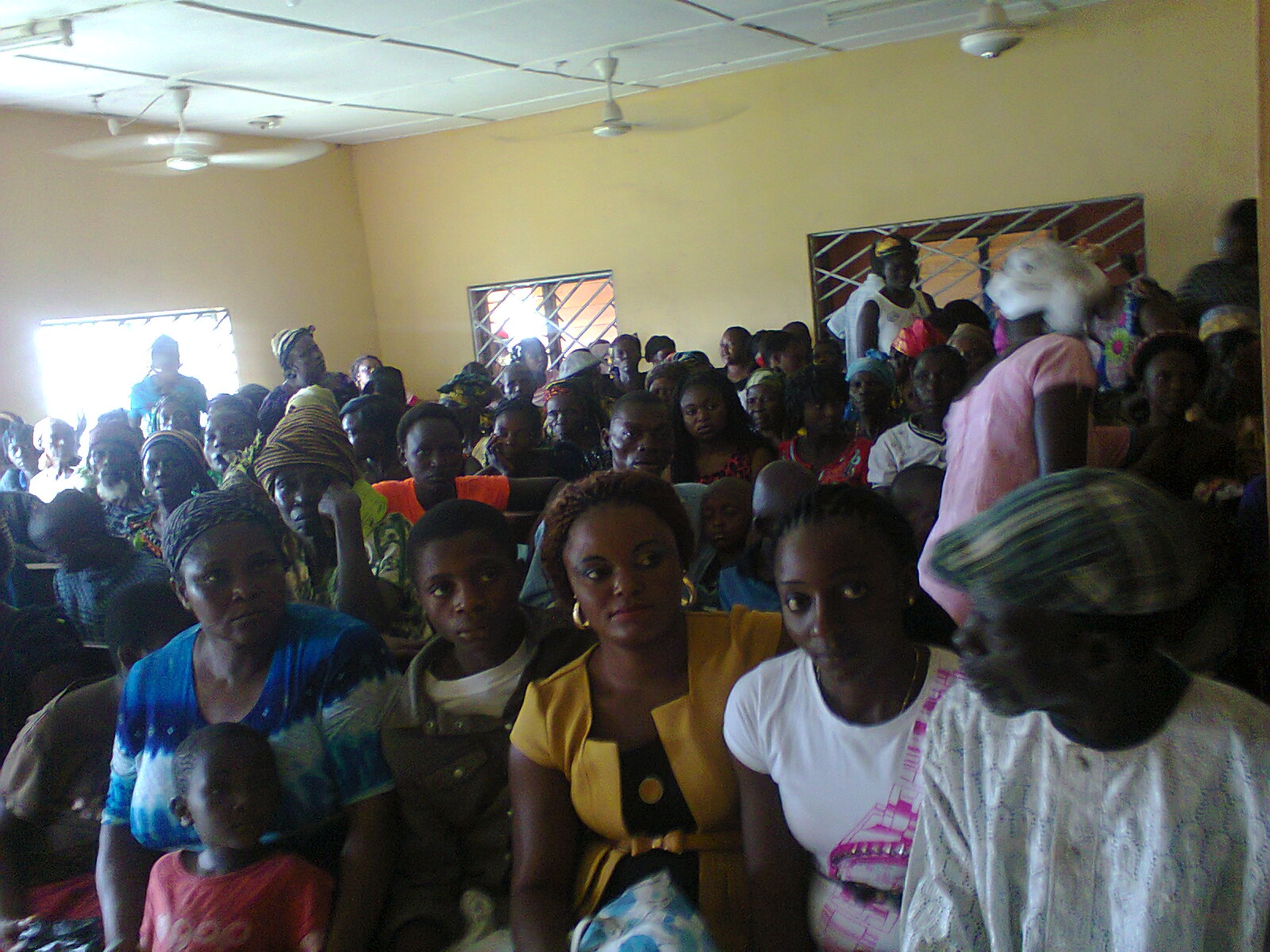 Patients waiting to be attended to at the Senator Ayade Free Medical Outreach