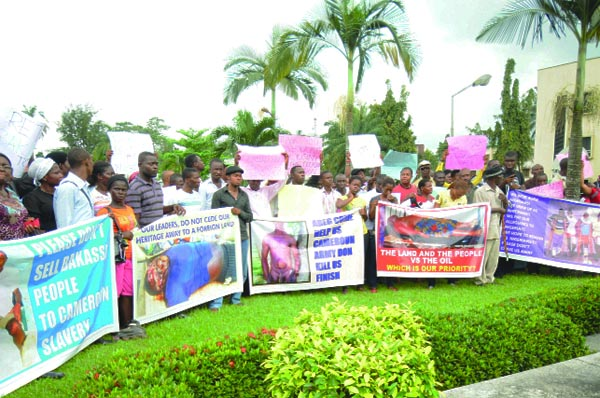 Previous Bakassi Returnee Protest