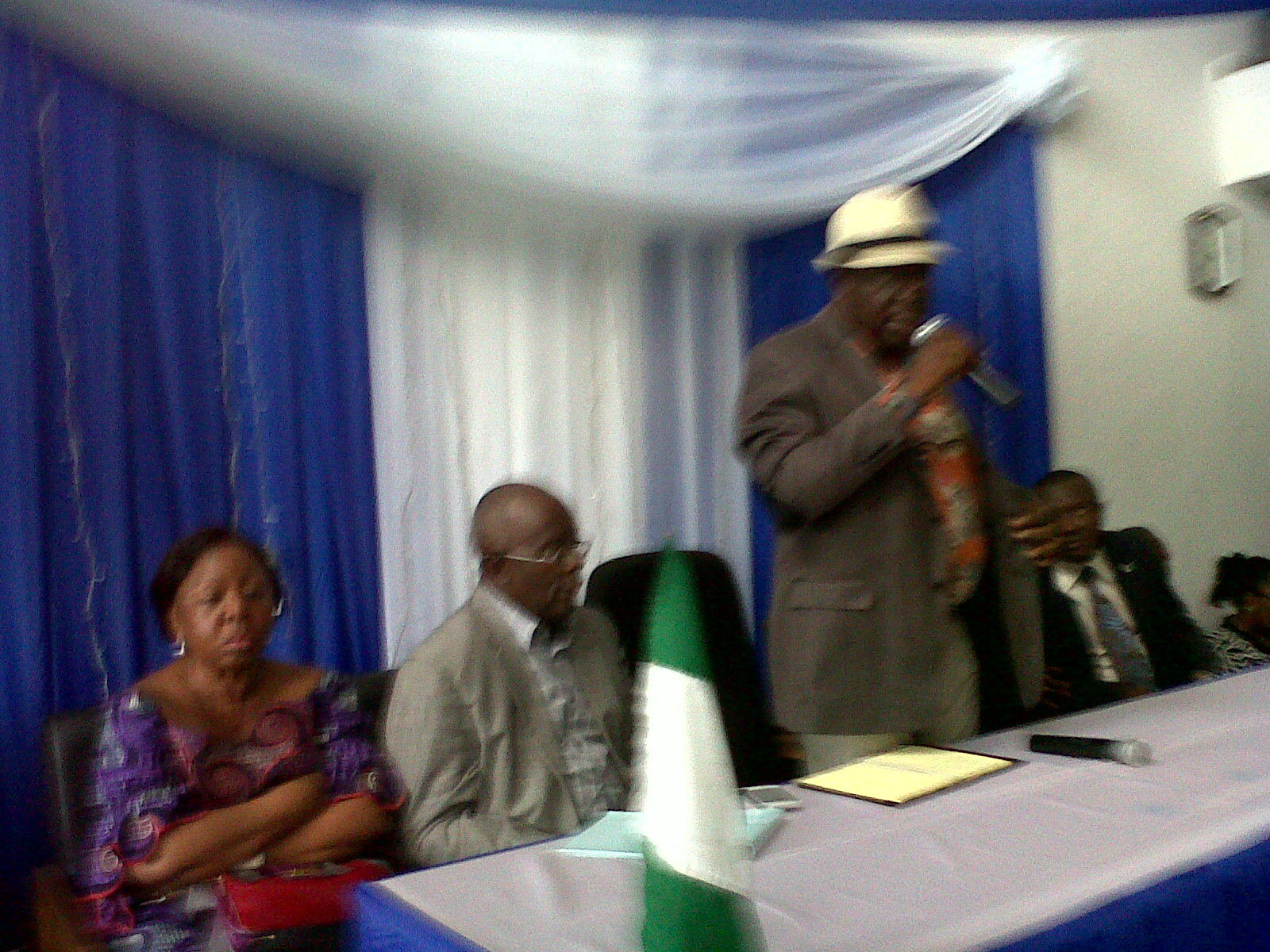 Minister of Interior, Abba Moro addressing the traditional rulers today