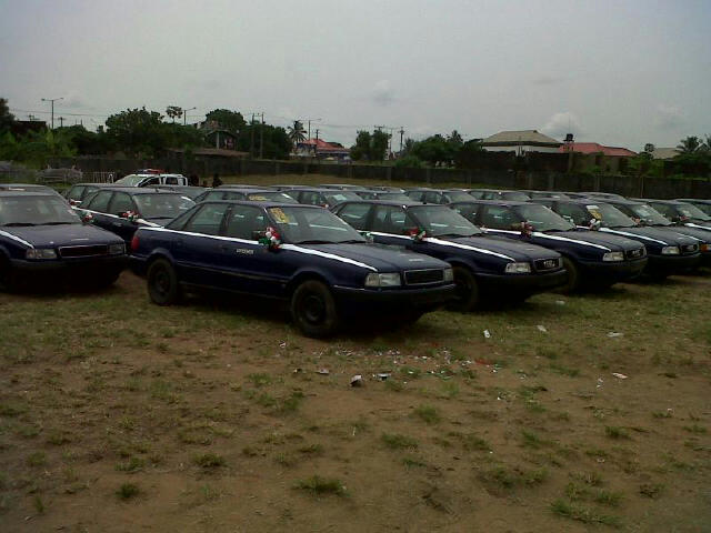 Some of the Audi Vehicles handed out by senator.