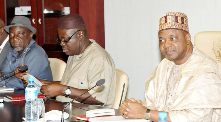 Vice President Namadi Sambo and Cross River Deputy Governor at the report presentation today