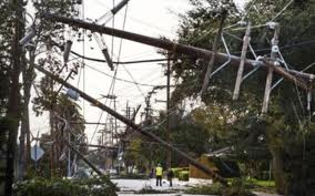 PHCN utility poles crashed  by the windstorm
