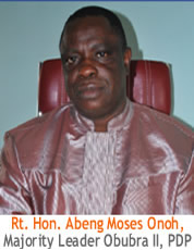 Hon. Moses Abeng Onoh, Majority Leader, Cross River State House of Assembly