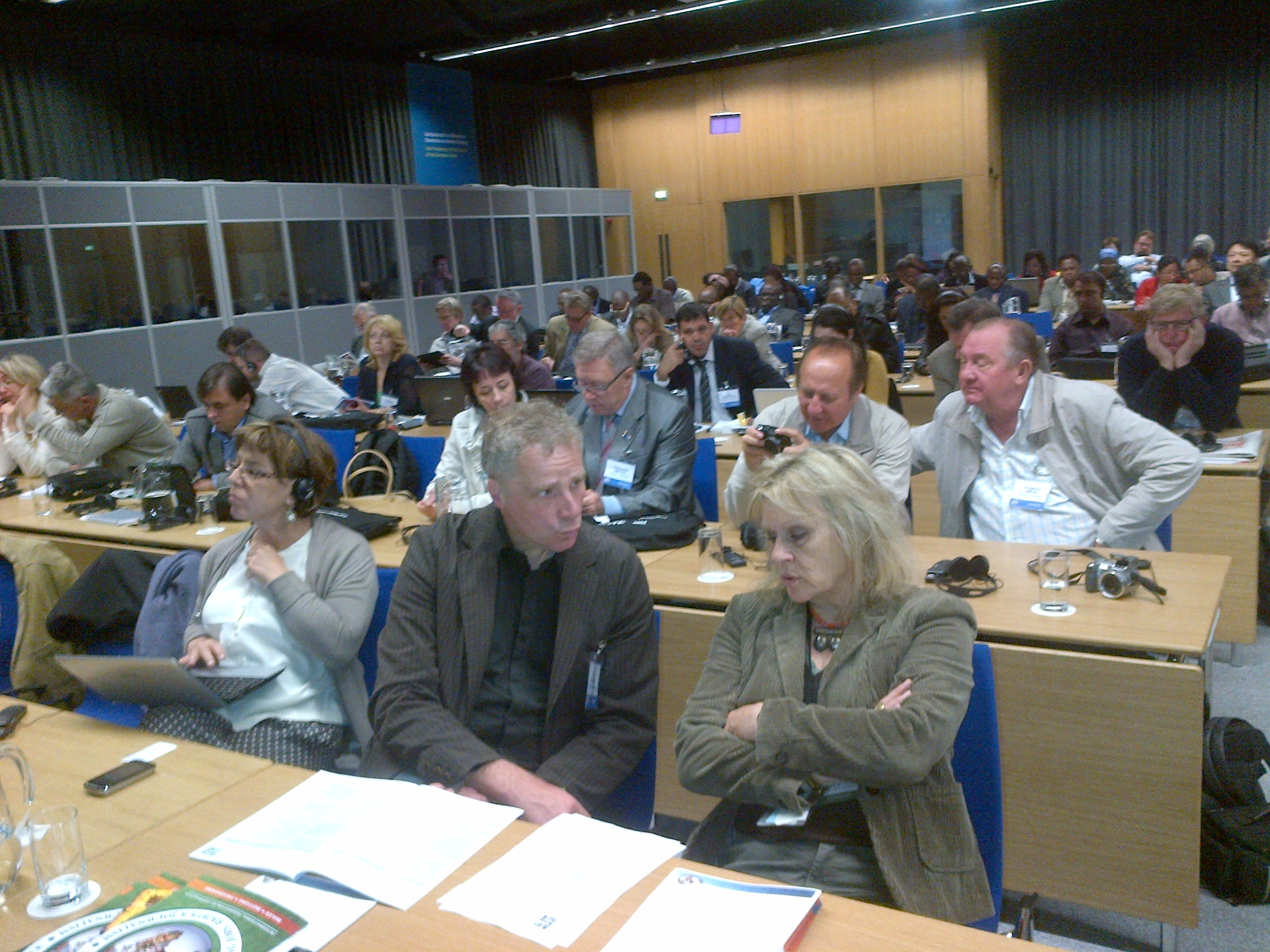 cross section of journalists at the IFJ congress in Dublin, ~Ireland