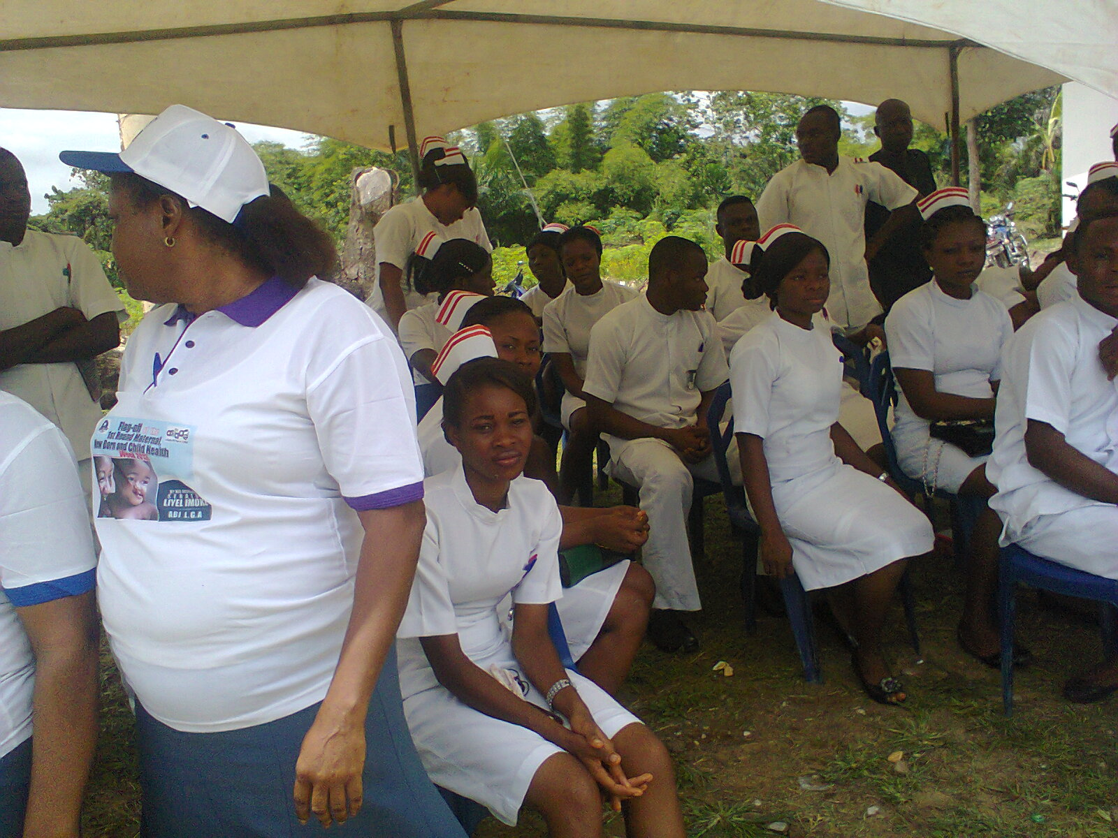Health workers during the immunization exercise
