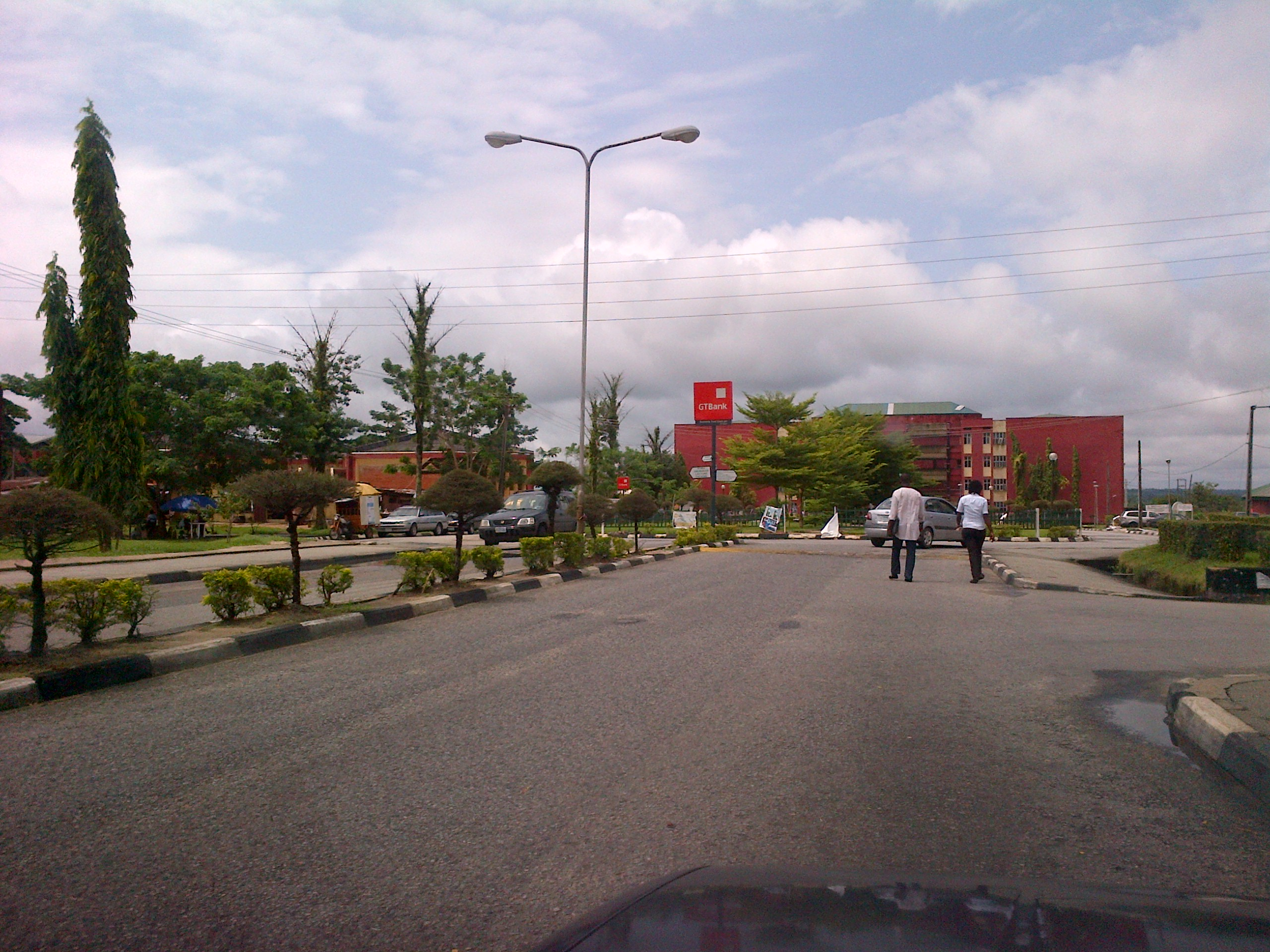 Deserted streets of Unical this morning