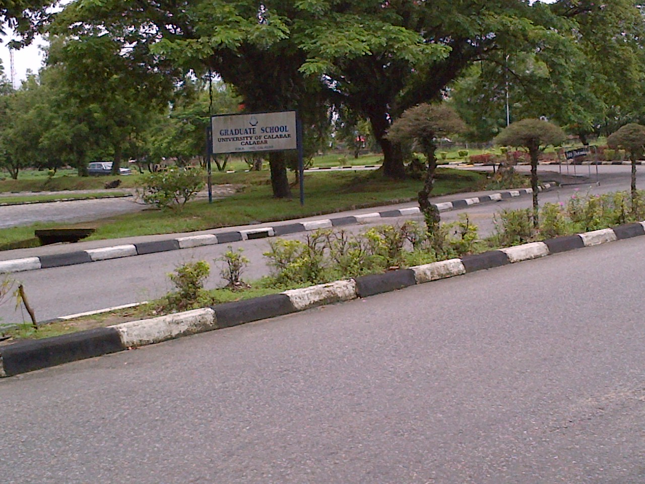 Empty streets of Unical this morning