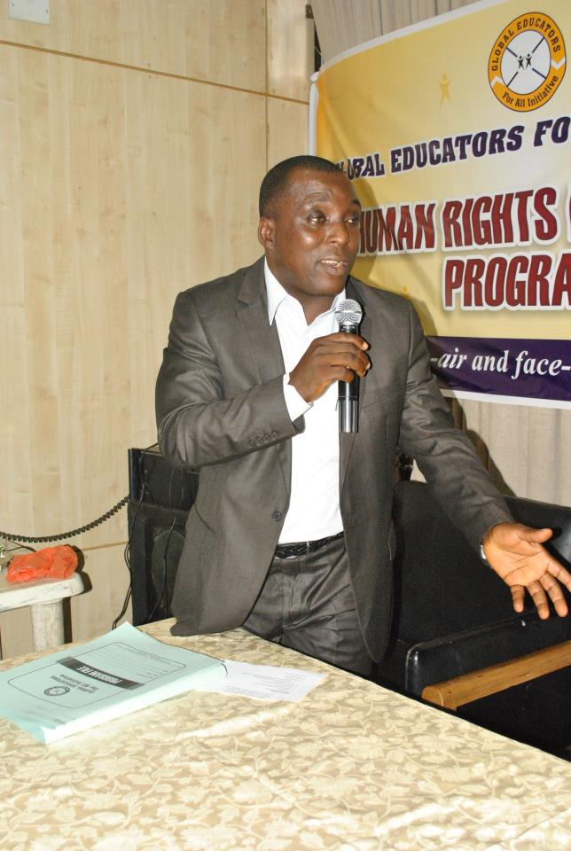 Dr. Raphael Oko Ogar, Coordinator and Founder, Global Educators for all Initiative, GEI