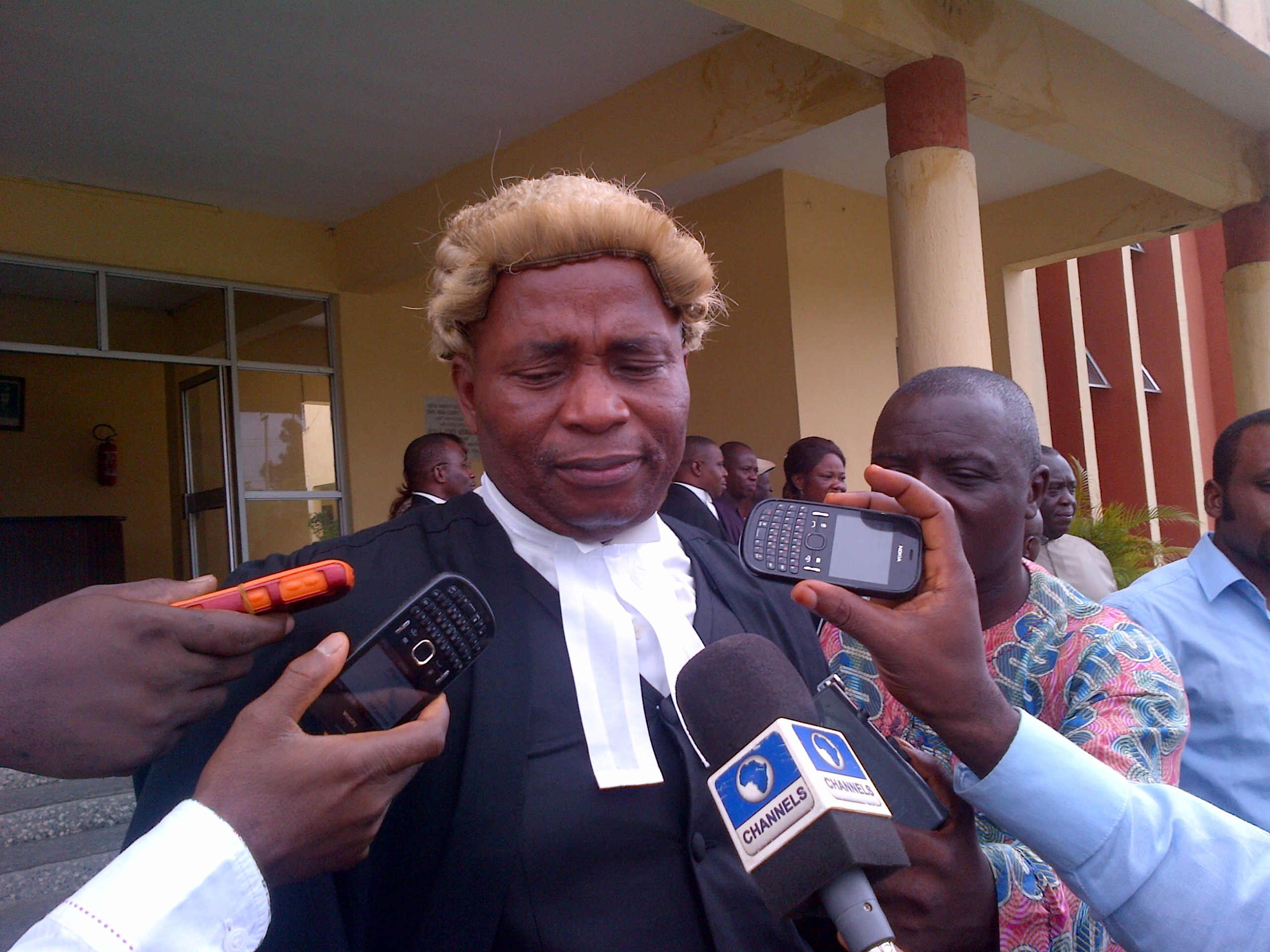 Counsel to Anthony Ani, Barrister Bassey Offiong in the Court of Appeal Calabar today