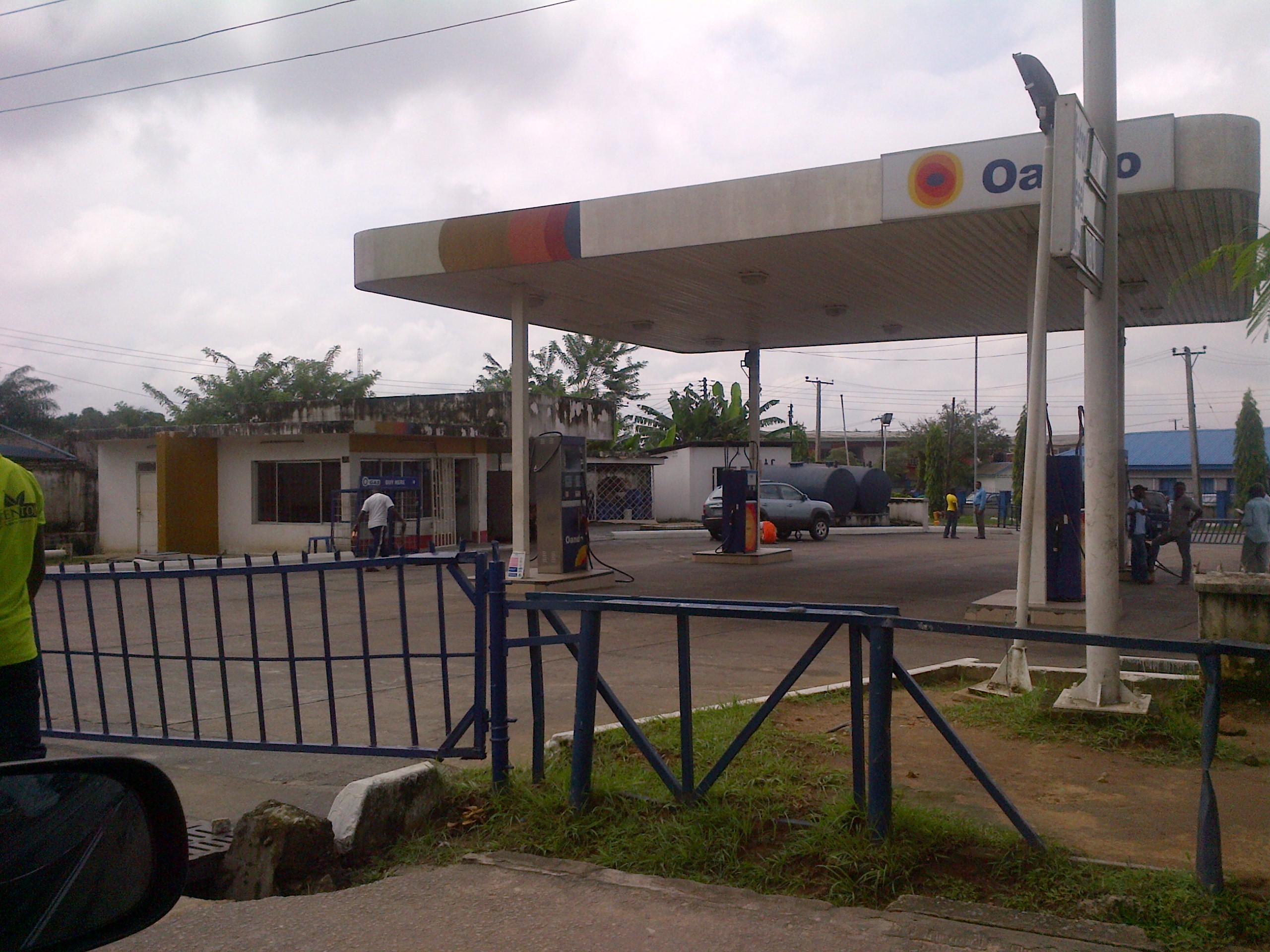 Deserted filling station in Calabar today