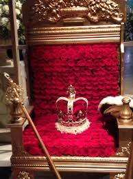 Vacant Throne, Crown and Staff of office
