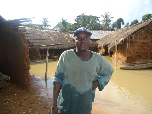 A flood victim in Eja Community, Obubra