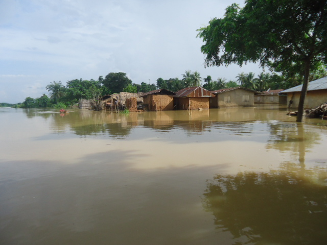 Flooded Eja community