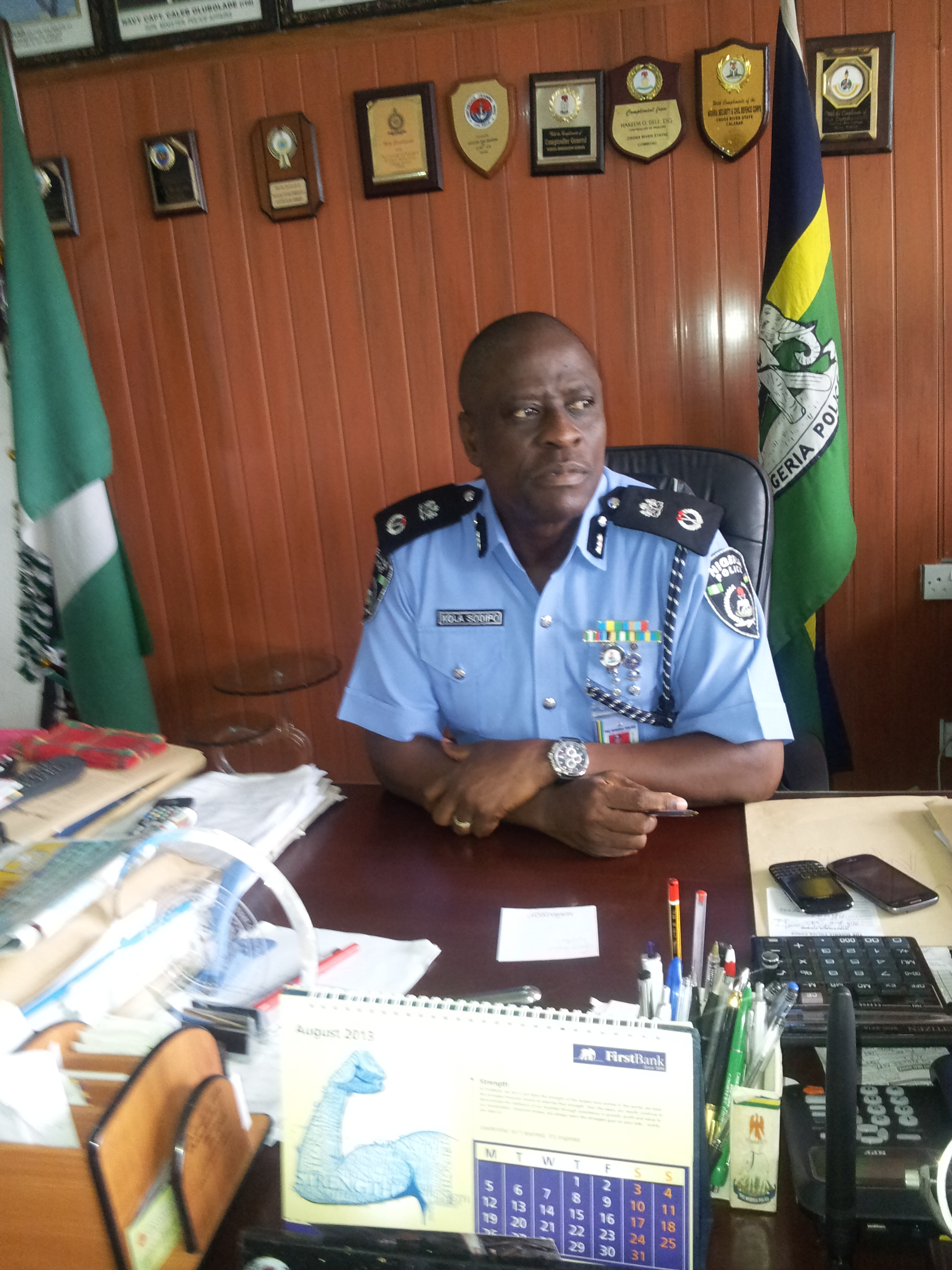 Mr. Kola Shodipo, Commissioner of Police, Cross River State Command