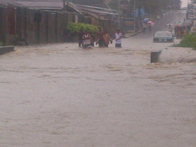 flooded street in Calabar