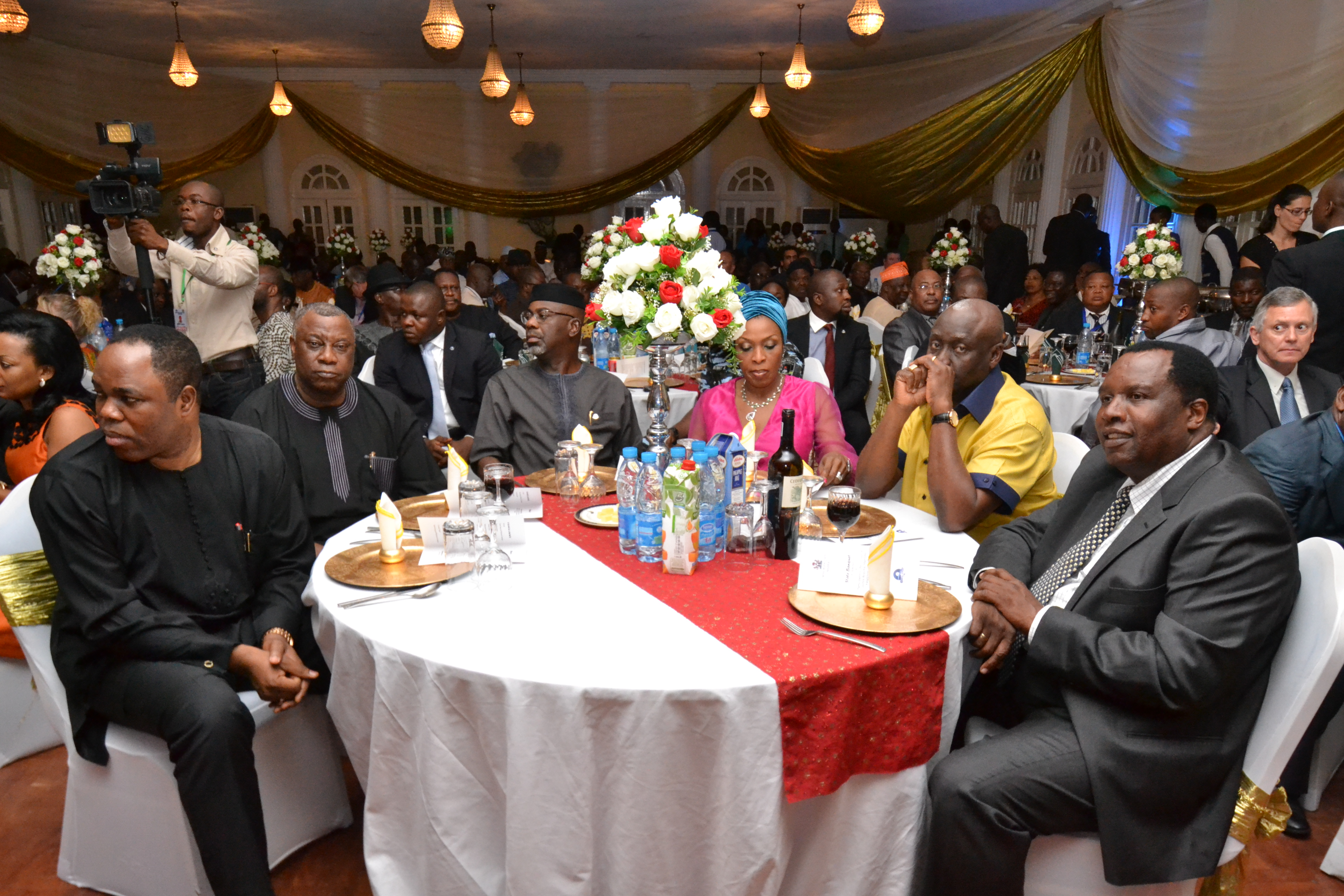 Cross River State Governor, Liyel Imoke, his wife and other guests at the state banquet