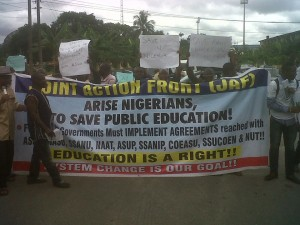 public education protest in Calabar