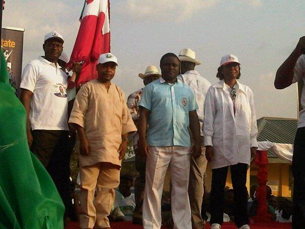 Senator Ben Ayade leading a PDP campaign (file pix)