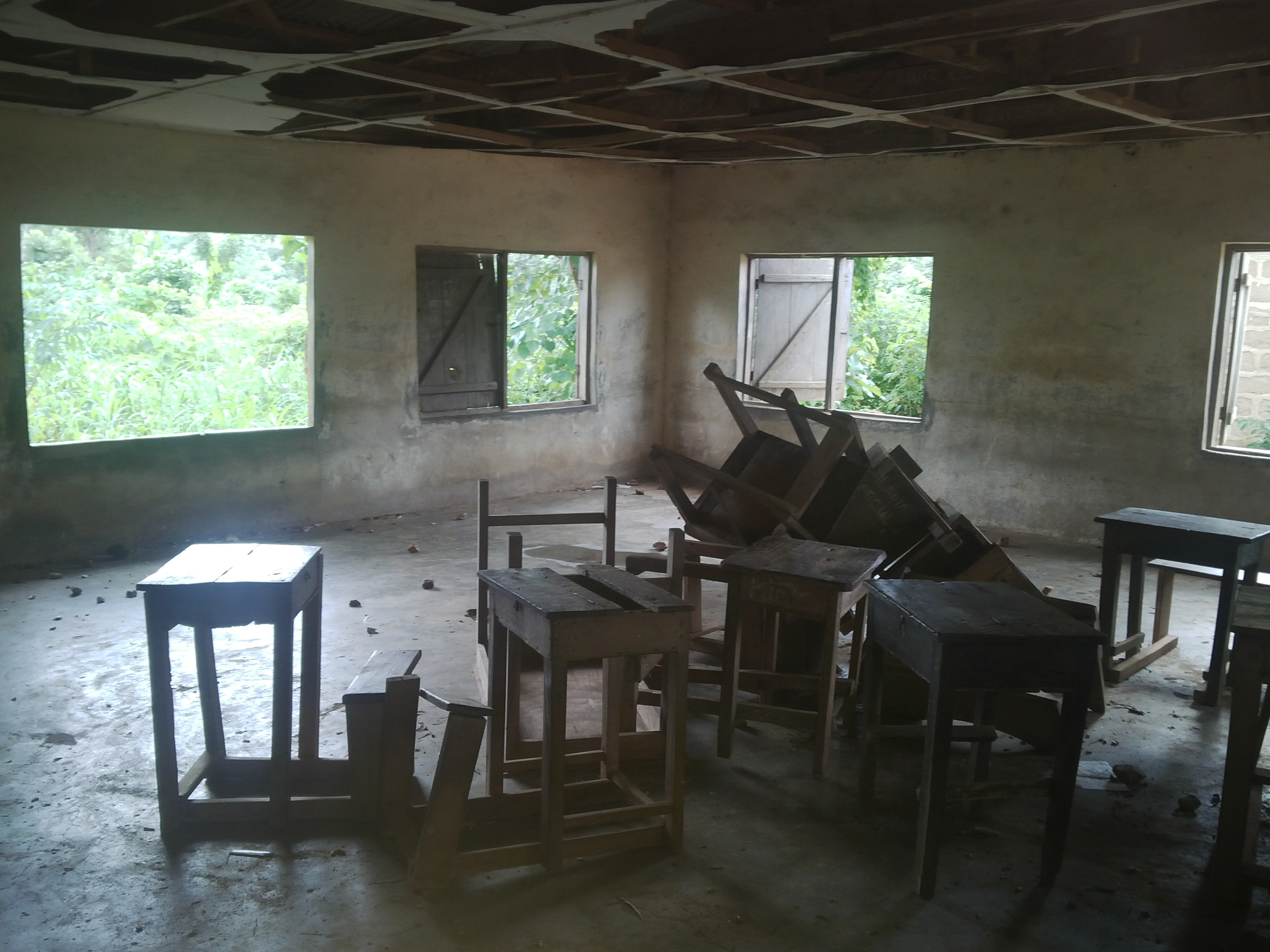 one of the classrooms still in use
