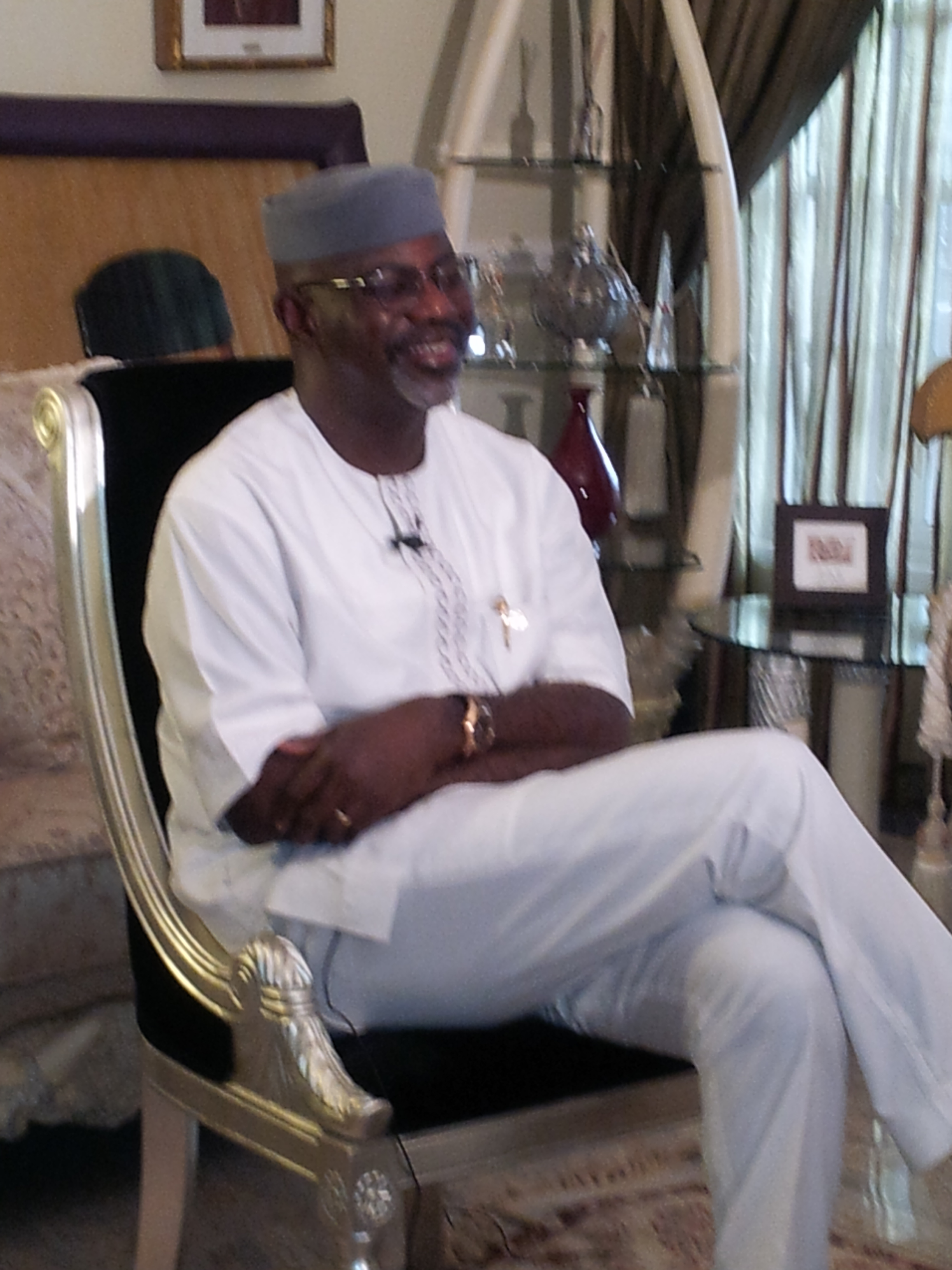 Governor Imoke during the interview in his country home in Itigidi