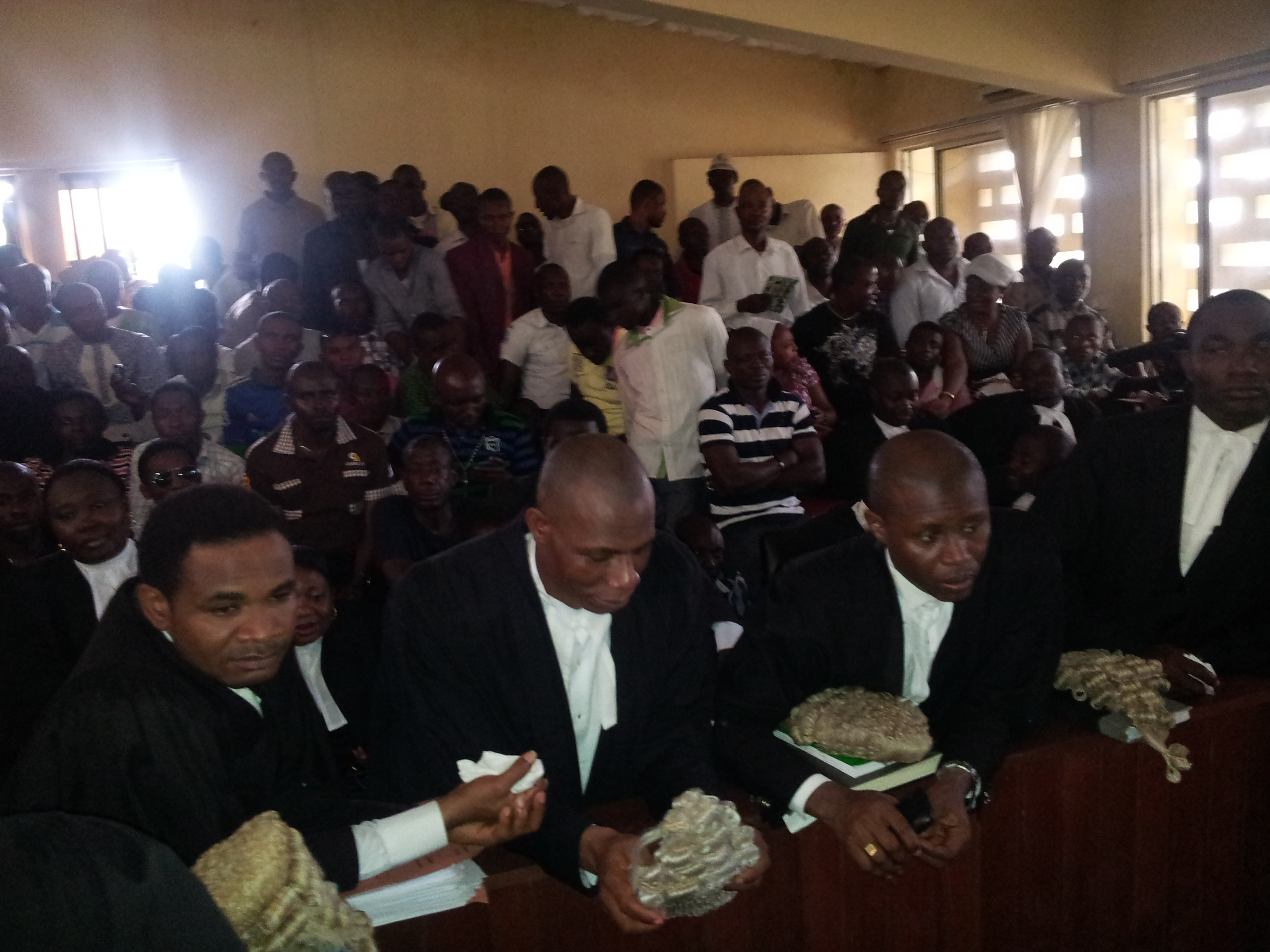 Inside the Federal High Court Calabar this morning