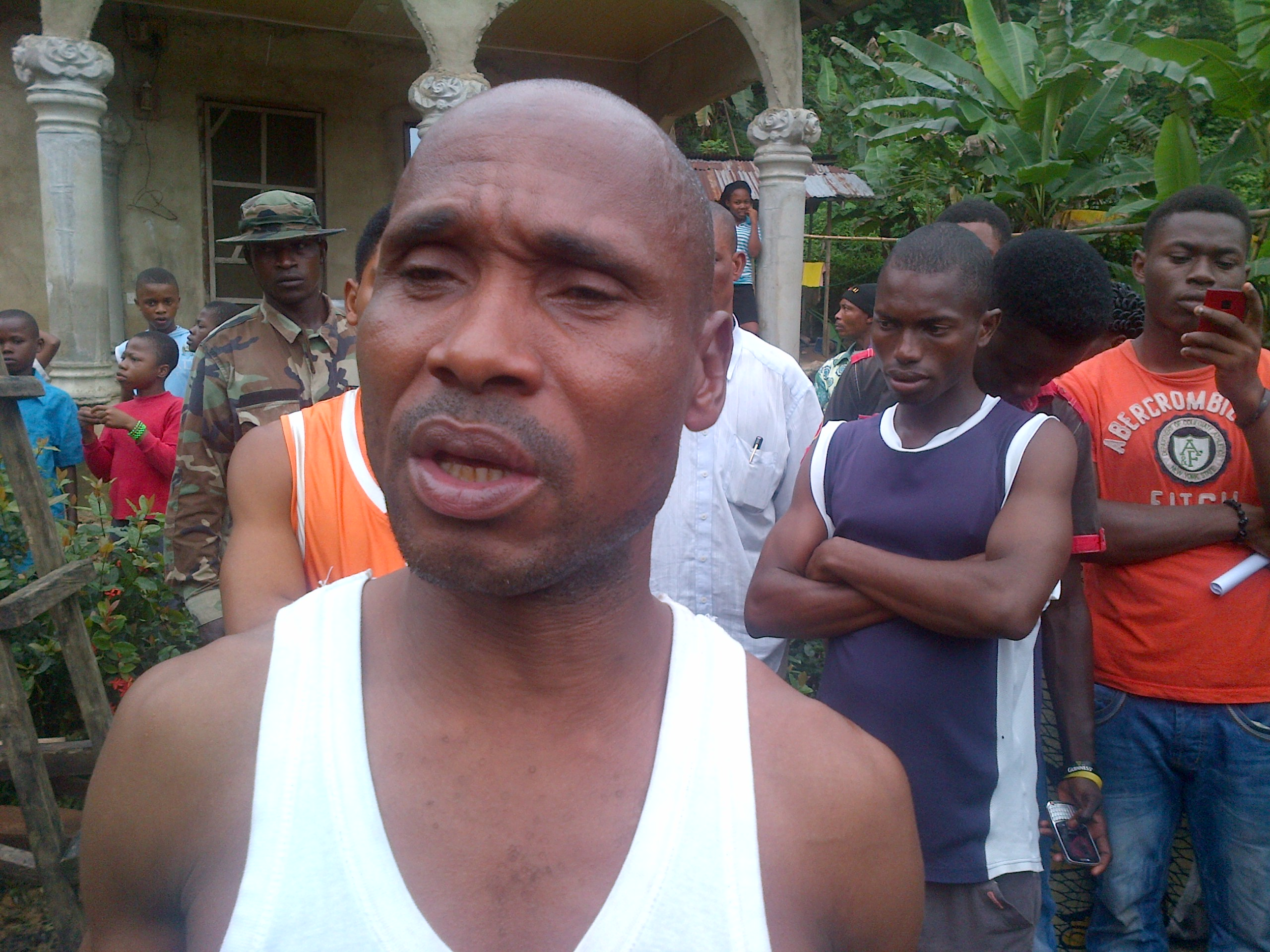 Mr. Amos Akaniyene who lost his wife and six children to the landslide