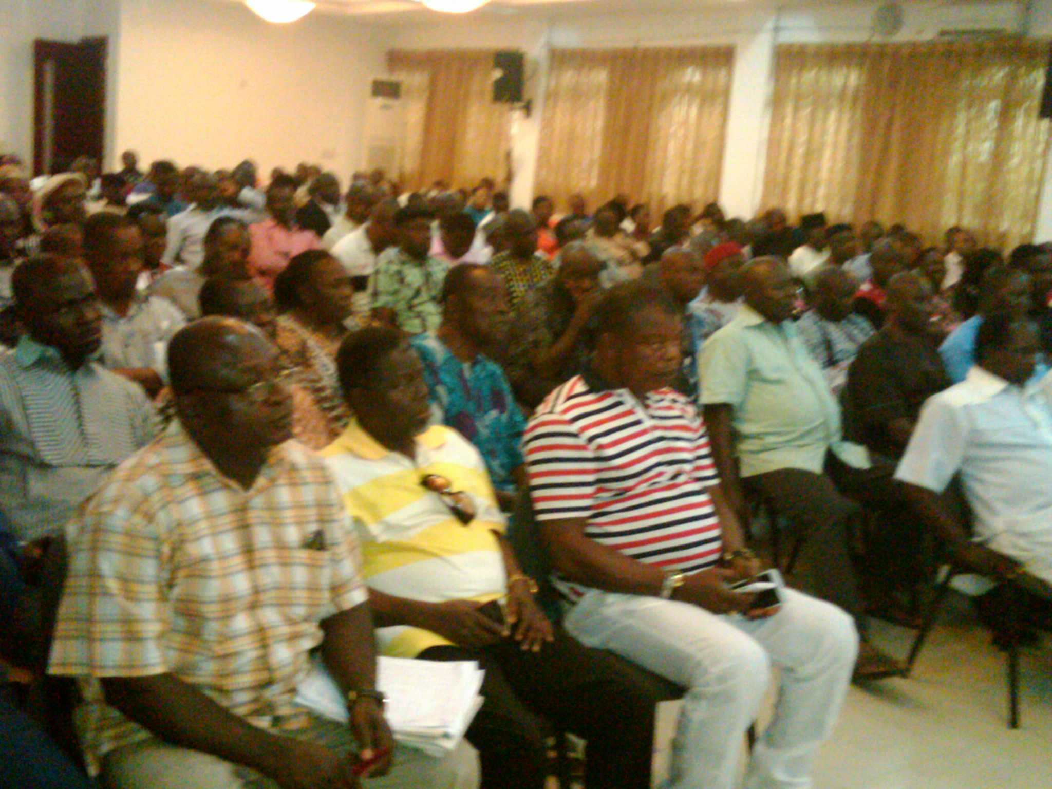 Members of PDP in Cross River Central Senatorial District at the meeting