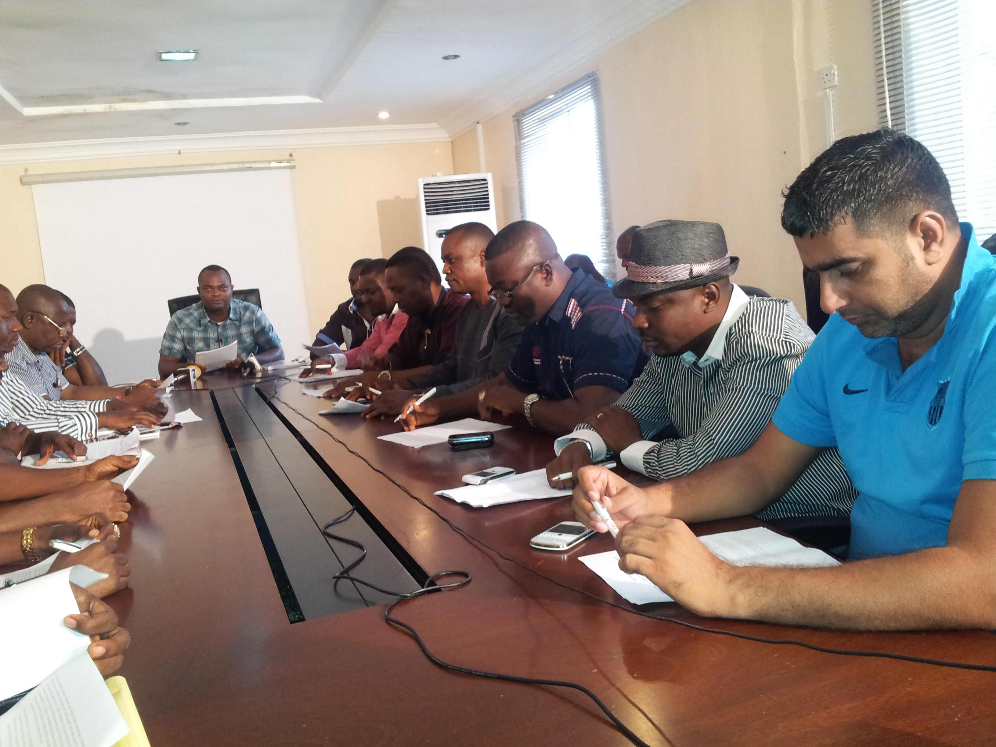 The group of investors in Tinapa during the press briefing