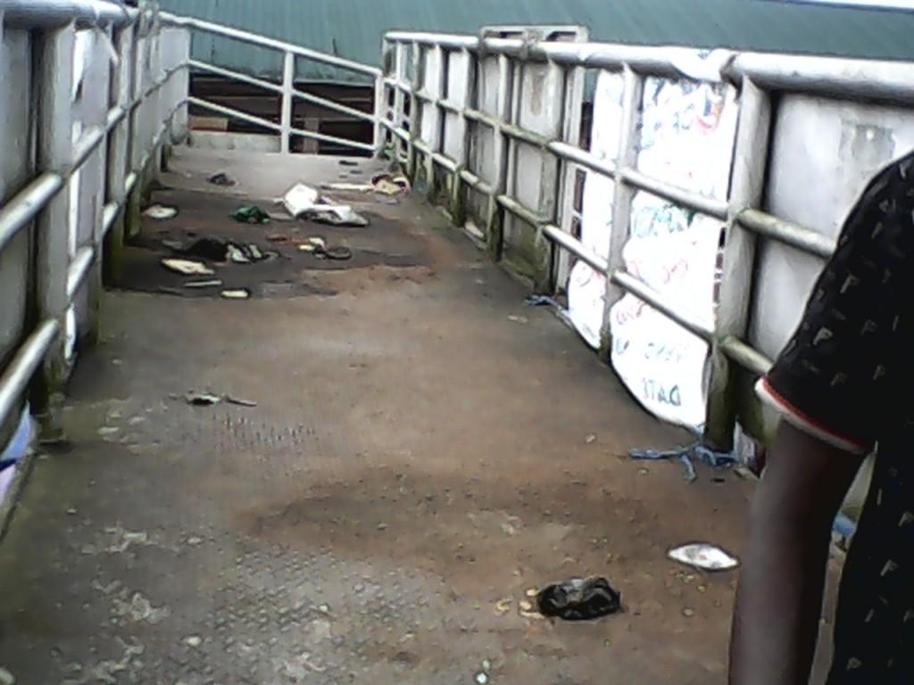 human faeces on the bridge