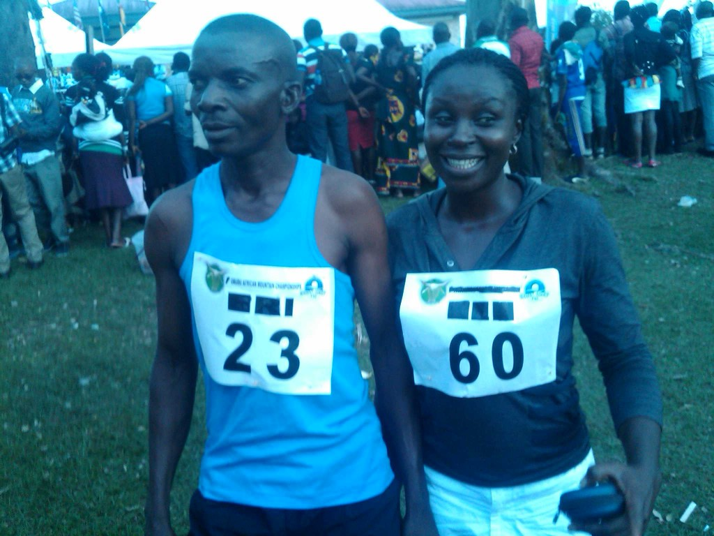 Odey Alenyo and Ohama Onazi, winners of the Media Race at the 9th Obudu International Mountain Race