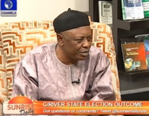 Sir Patrick Otu, Chairman, CROSIEC on Channels Sunrise over the outcome of the LG Election
