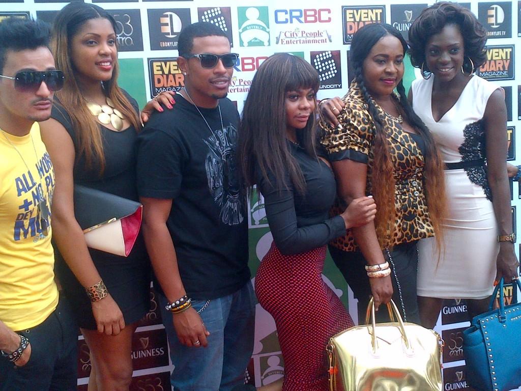 BBA Bassey; Cameroun music diva, Mesula; BBA Bimp; Karen Igoh; Nkoyo King; and BBA Beverly Osu during the unveiling of Beverly Heels in Calabar
