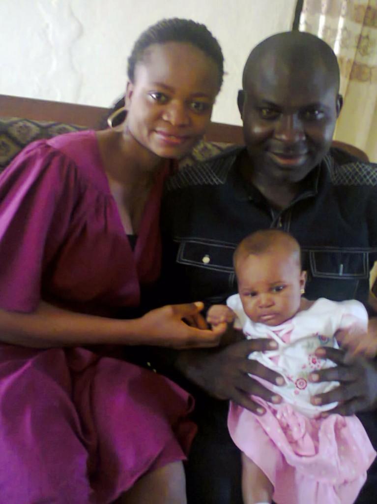 Comrade Ogar Ojong, his wife and kid