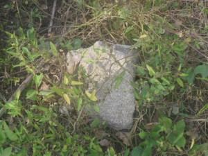 The stone Ntunkai places her feet to bathe and rest on her land where she was buried