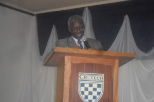 Prof. Oyewale Delivering His Paper