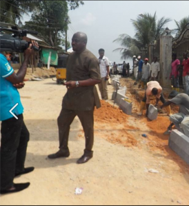 Barrister Legor Idagbo on inspection tour of projects
