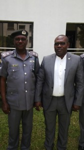 Mr. Rekpene Bassey, Cross River State Security Adviser and Mr. Akande Bamidele, the Comptroller of Customs for the Cross River and Akwa Ibom State Command when the later paid the former a courtesy call in Calabar on Saturday
