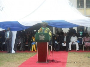 Governor Imoke speaking at the event