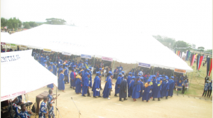 A cross section of the convocating students