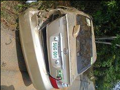 The SUG President's car that was involved in the accident