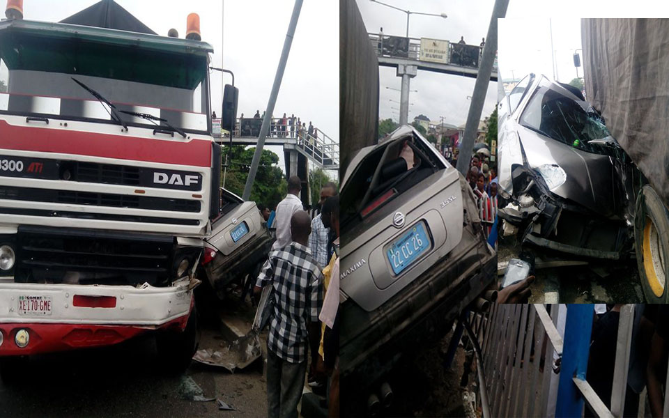 Truck Crushes Cameroon Consulate Car in Calabar