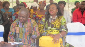 Chairman, Abi LG, Hon Edith Amadi with the Chief of Staff to Imoke at the funeral of late Hon Sonnie Egbe