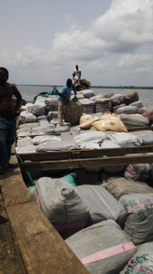 The seized boat and consignment
